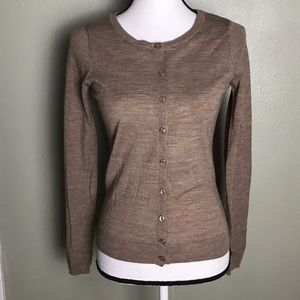 The Limited NWOT Tan Button Down Cardigan Size S